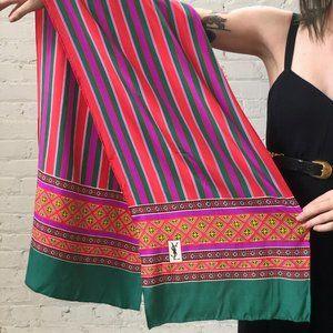 70s Vintage YSL Silk Stripe Head Neck Tie Scarf